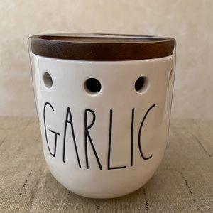 Rae Dunn Garlic Ceramic Container